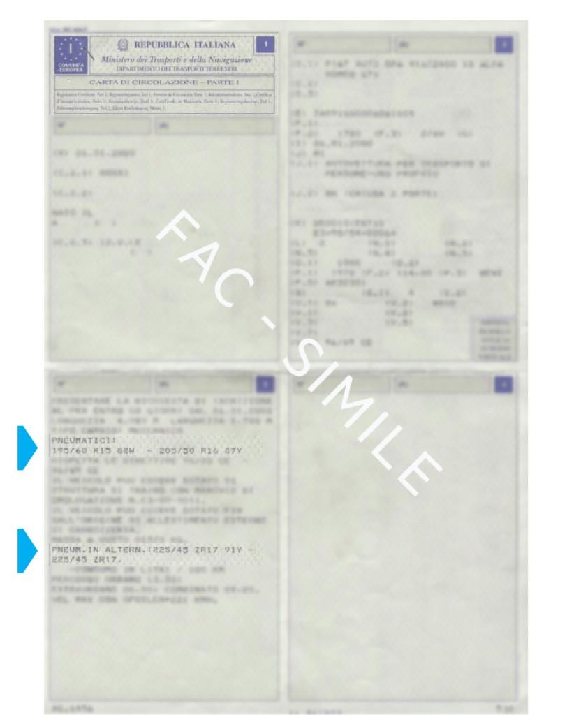 Esempio di carta di circolazione
