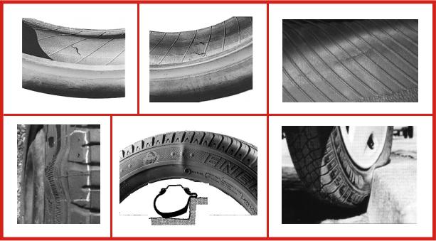 Danneggiamenti pneumatici: ernia sul lato