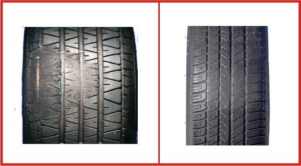 Danneggiamento pneumatici: Usura circoscritta sul battistrada