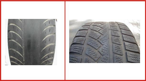 Danneggiamento pneumatici: usura centrale